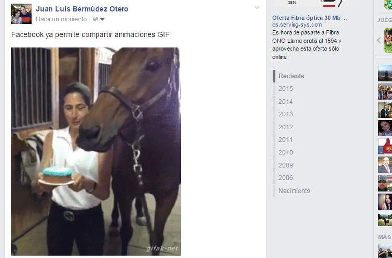 Facebook se rinde por completo, o casi, a los gifs animados