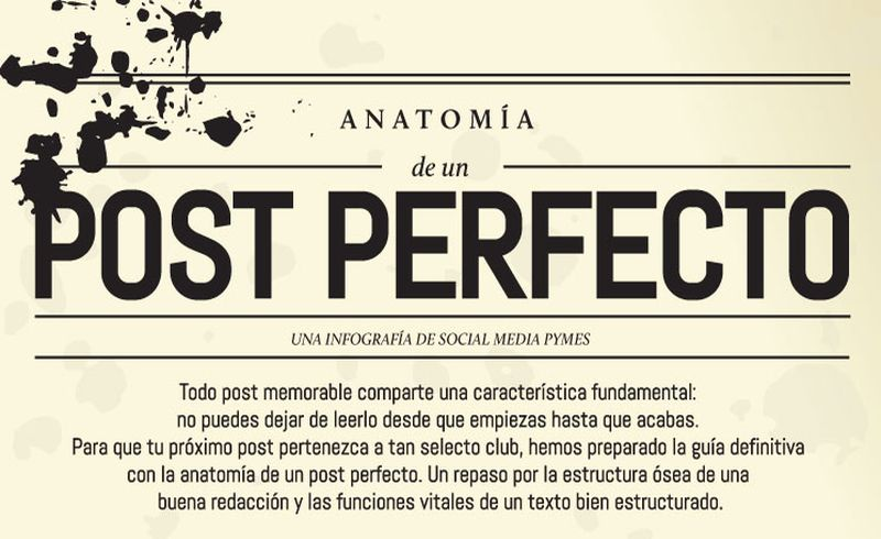 No te pierdas esta infografía: Anatomía de un post perfecto