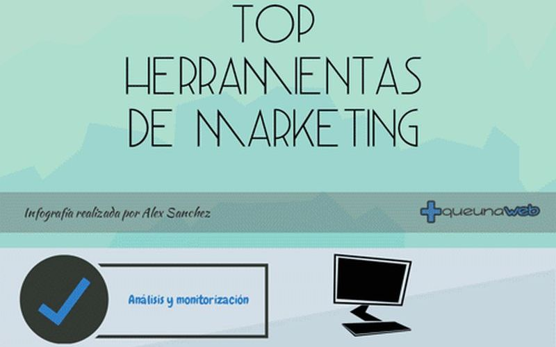 Top con las mejores herramientas para Marketing (infografía)