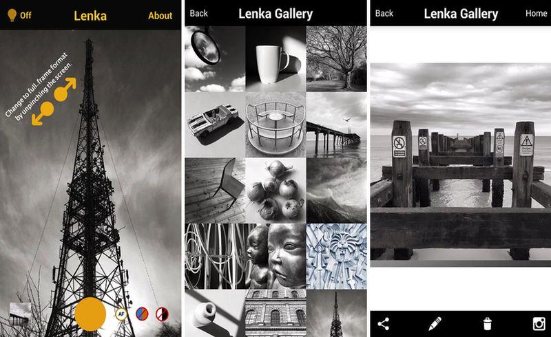 Lenka: app móvil para capturar bellas fotos en blanco y negro