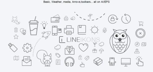 LineIkons: más de 400 iconos gratis válidos para apps con retina display