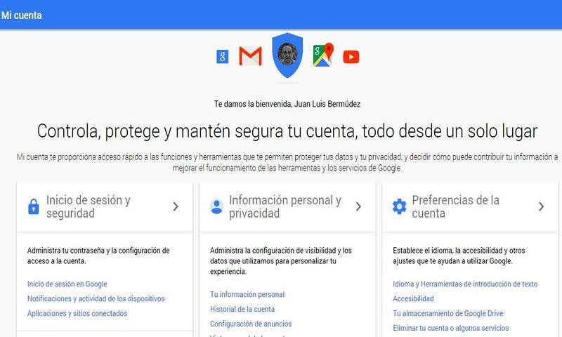Mi Cuenta: nuevo sitio de Google para configurar nuestra Privacidad y Seguridad