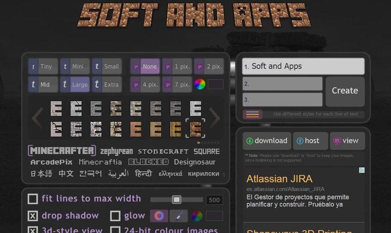 Textcraft: crea textos y logotipos con estilo Minecraft