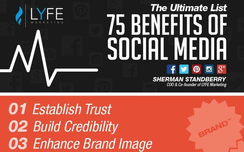 La lista de las 75 ventajas que aportan las Redes Sociales (infografía)