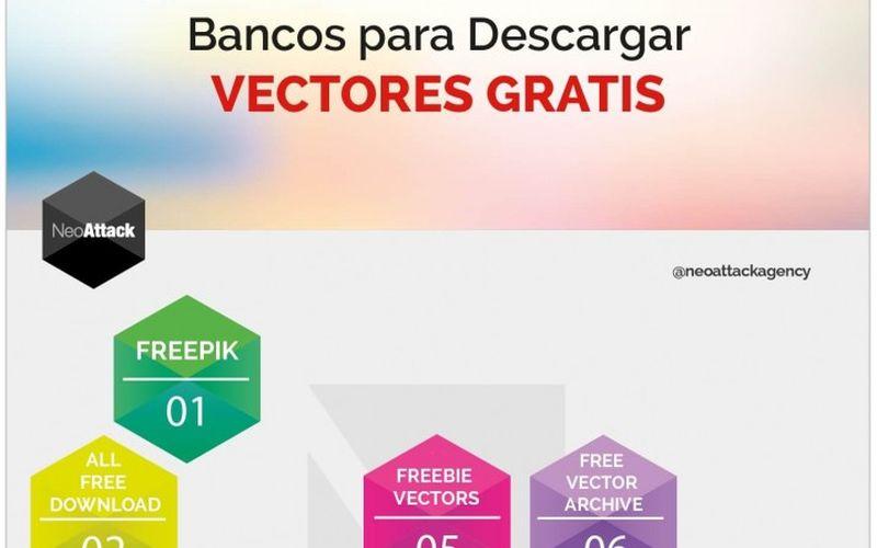 10 bancos con imágenes vectoriales gratuitas (infografía)