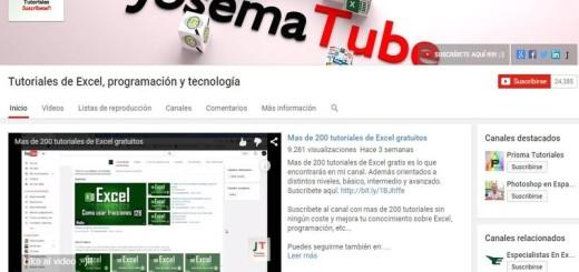 Josematube - video tutoriales Excel