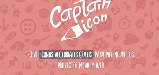 Captain Icon: más de 350 iconos vectoriales gratuitos