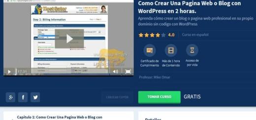 Curso gratis, de 2 horas, para aprender a crear un sitio WordPress
