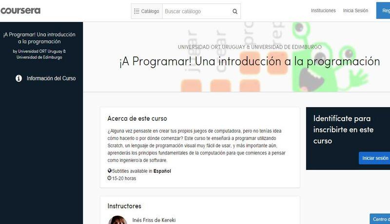 Curso gratuito de programación con Scratch