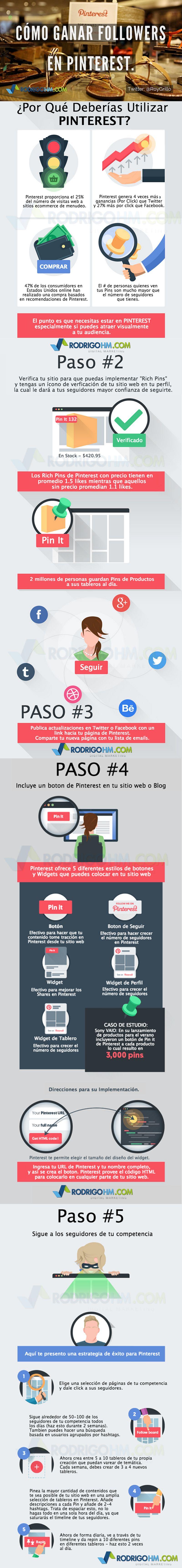 ¿Cómo ganar muchos seguidores en Pinterest? (infografía)