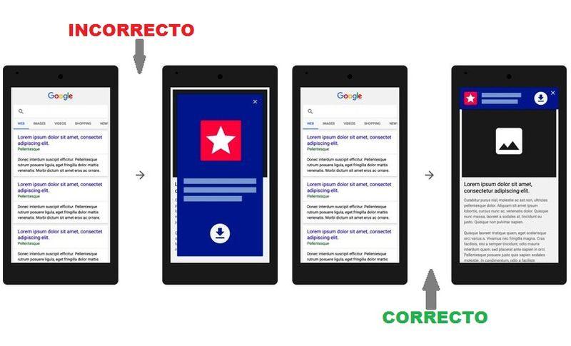 Google penalizará sitios móviles con anuncios de pantalla completa