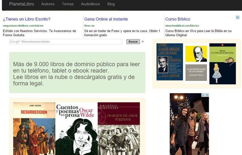 PlanetaLibro: más de 9000 libros de dominio público para descargar o leer online
