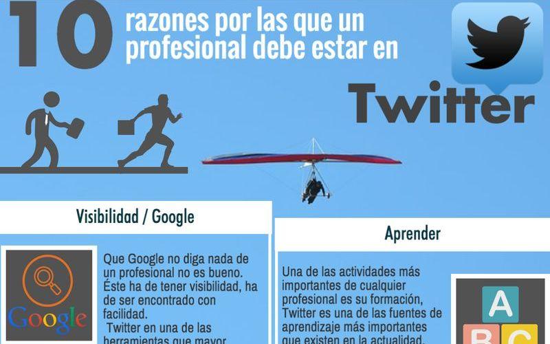 Los 10 motivos para que los profesionales estén en Twitter