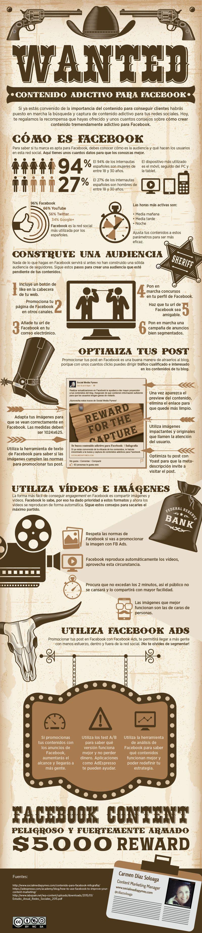 ¿Cómo crear contenido adictivo para Facebook? (infografía)