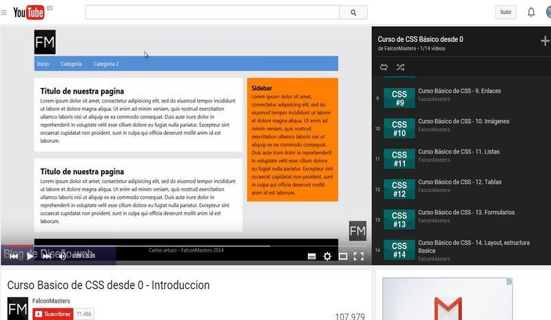 Vídeo curso básico de CSS desde cero