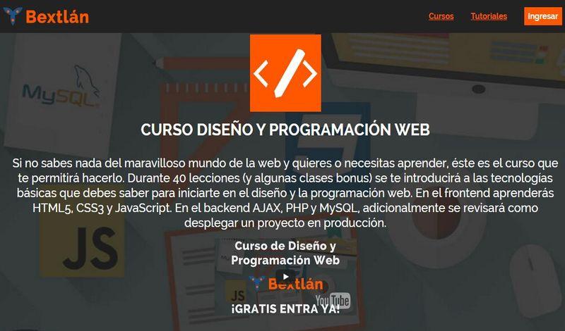 Curso gratis, y muy completo, de Diseño y Programación Web