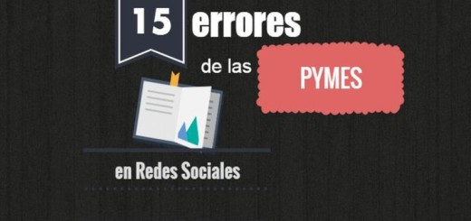 15 errores comunes de las Pymes en Redes Sociales (infografía)