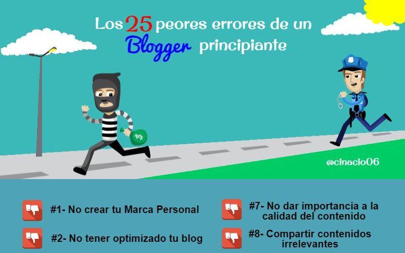 25 errores que suele cometer un blogger principiante (infografía)