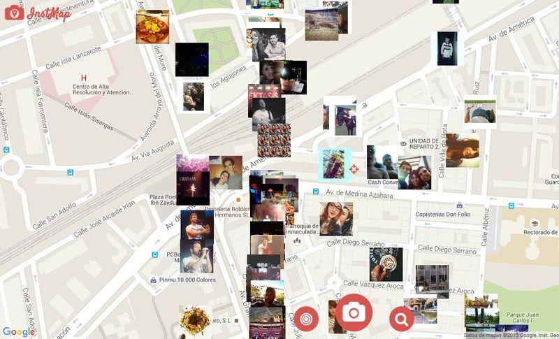 InstMap: las últimas imágenes compartidas en Instagram localizadas en el mapa