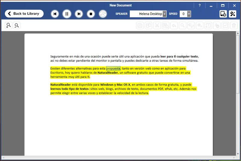 NaturalReader: software gratis que te lee textos, pdf y sitios web