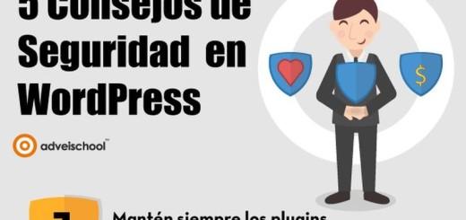 5 importantes consejos para la seguridad en WordPress (infografía)