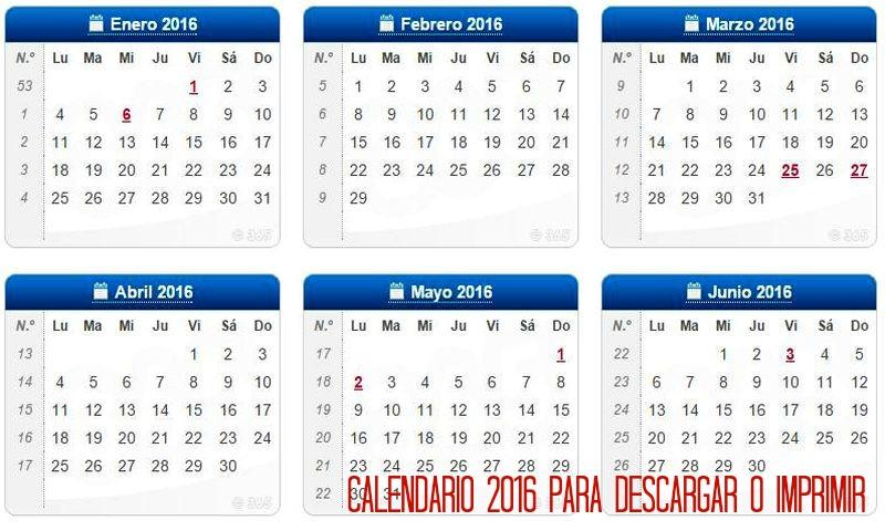Calendarios 2018 Republica Dominicana