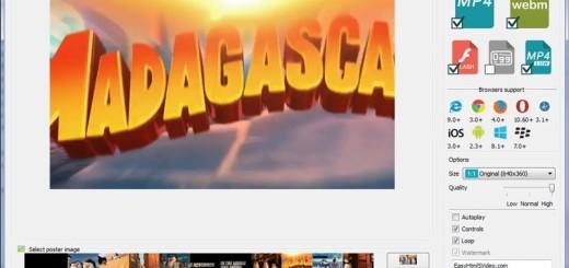 Easy HTML5 Video: software gratis para convertir vídeos a HTML5