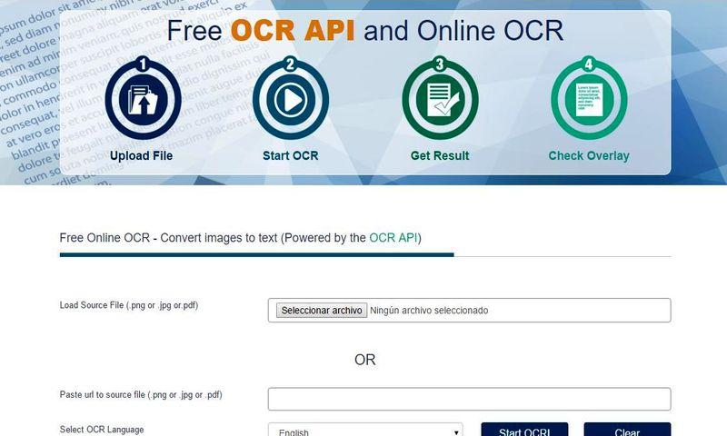 Free OCR: utilidad web para extraer el texto de imágenes y documentos