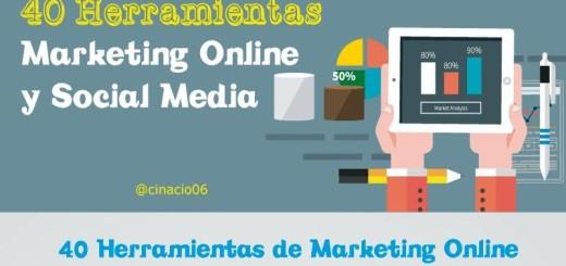 40 herramientas para Social Media y Marketing Online (infografía)