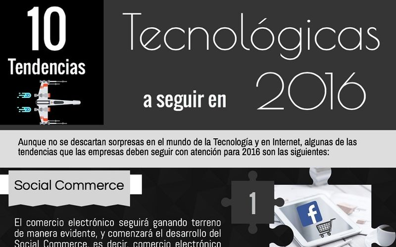 Tendencias Tecnologicas para 2016 ¿Conoces las 10 Tendencias Tecnológicas para 2016? (infografía)