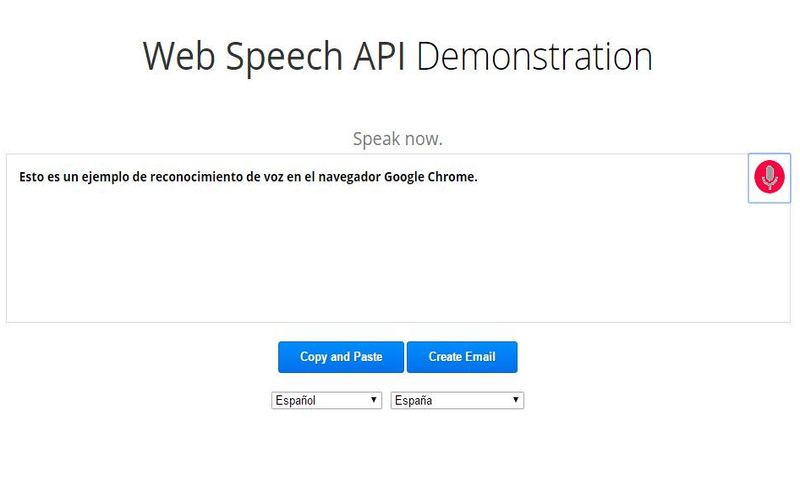 Web Speech API: convierte voz a texto en Chrome
