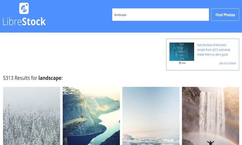 LibreStock: metabuscador para buscar imágenes libres en más de 40 sitios