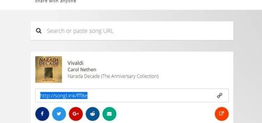 Songlink: comparte varios enlaces de una misma canción