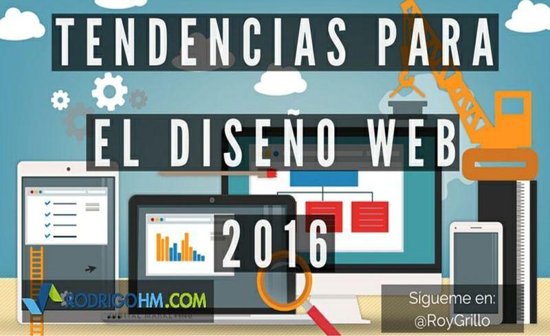 Las Tendencias en Diseño Web en 2016 (infografía)