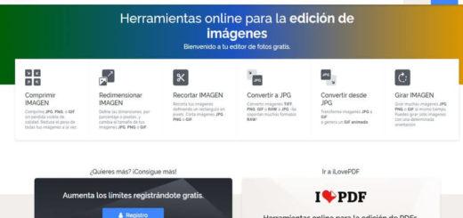 iLoveIMG - editar imágenes online