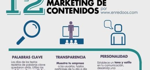 Descubre las 12 reglas del Marketing de Contenidos (infografía)