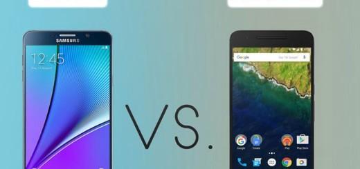 Comparativa de phablets: Galaxy Note 5 vs Nexus 6P (infografía)