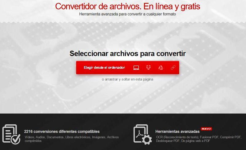 Convertio: convierte todo tipo de archivos en la web