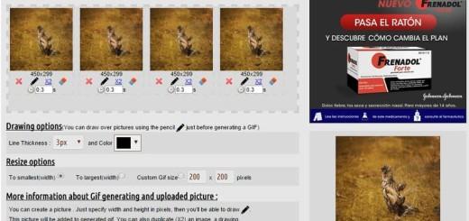 GifMake: genial herramienta web para crear GIF animados