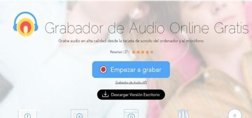 Grabador de Audio online y gratuito