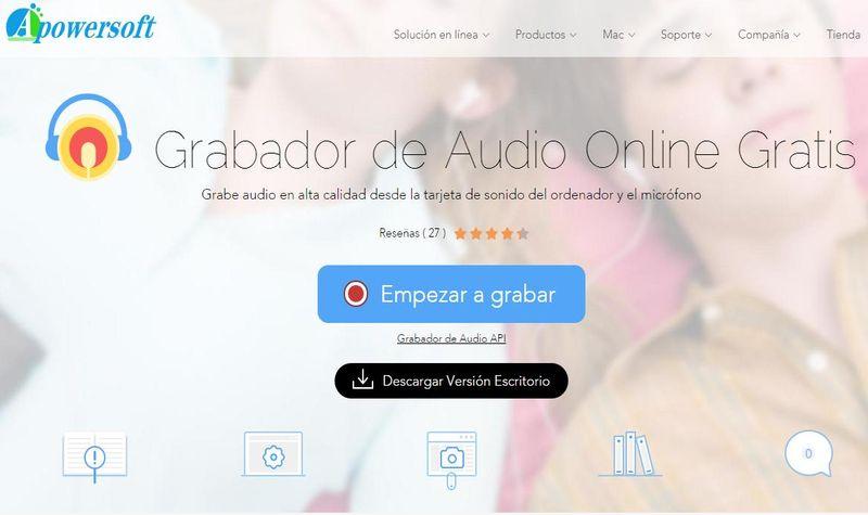 Grabador de voz online - Apowersoft