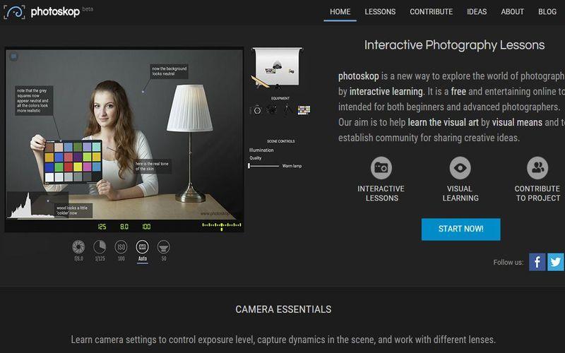 Photoskop: aprende fotografía con lecciones interactivas