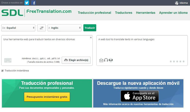 SDL Free Translation SDL Free Translation: traductor online para múltiples idiomas