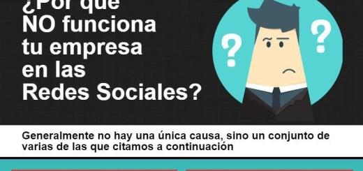 ¿Tu Empresa no funciona en las Redes Sociales? (infografía)
