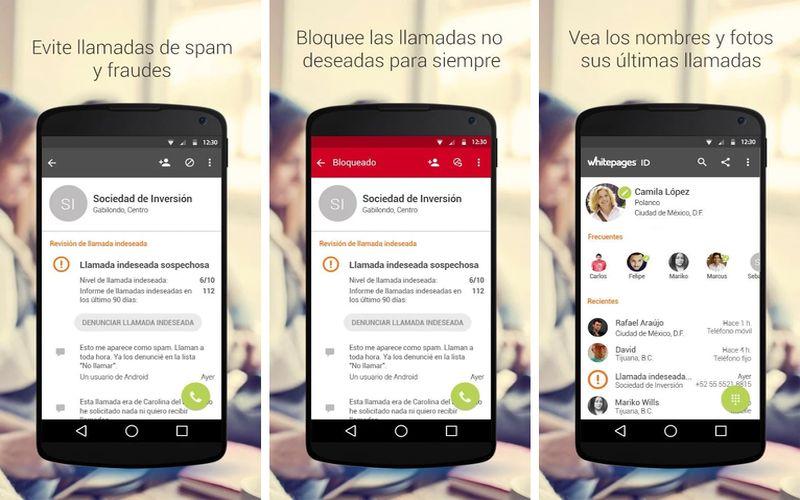 Whitepages ID: app Android que identifica llamadas y bloquea el Spam