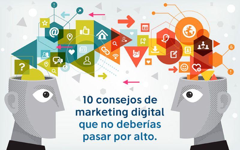 10 consejos para Marketing Digital que debes conocer (infografía)