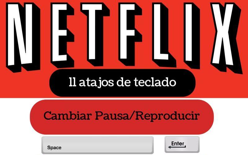 11 Atajos de Teclado en Netflix (infografía)