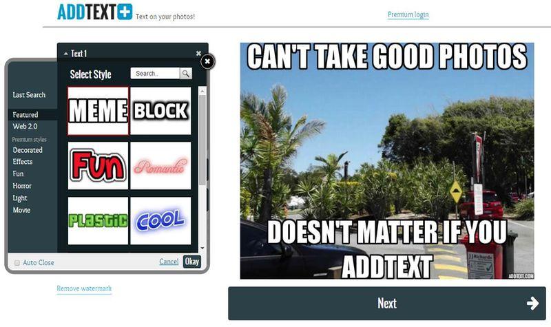AddText: crea online impresionantes imágenes con texto