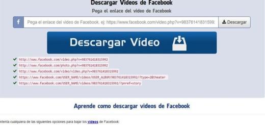 Bajar Videos de Facebook