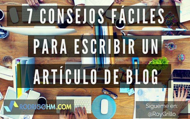 Tips para escribir mejores artículos en tu Blog (infografía)